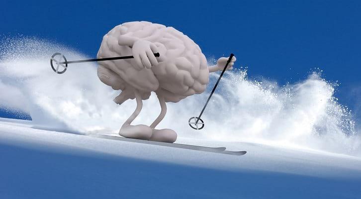 גלישת סקי עם תרגילי מוח