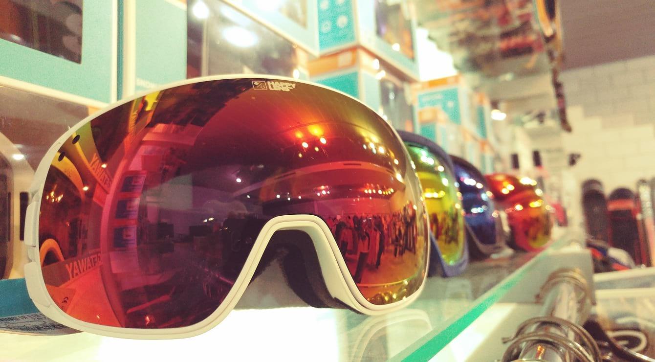 משקפי סקי וסנובורד בסקימולטור