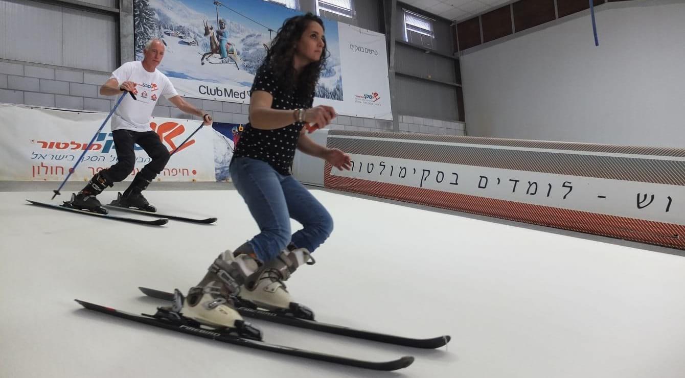 אימון סקי בסקימולטור כהכנה לחופשת הסקי