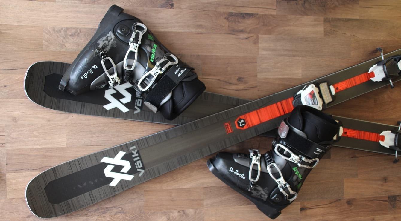 נעלי סקי Dalbello ומגלשי Volkl